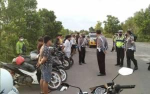 Belasan Pelaku Balap Liar di Jalan Lingkar Utara Sampit Diamankan