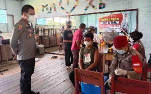 Kapolres Kapuas Pantau Pelaksanaan Vaksinasi Covid-19 di Ponpes Al-Amin