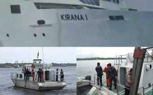 Petugas Gabungan Cari Penumpang Kapal Terjun ke Laut