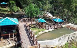 Desa Pangke Miliki Wisata Air Terjun Sahai Gantung