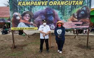 OFI Kampanyekan Orangutan di SDN 1 Sungai Undang