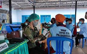 Vaksinasi di Lapas Palangka Raya Mencapai 350 WBP