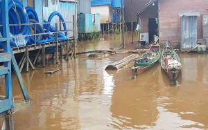 Debit Air Sungai Katingan Wilayah Bukit Raya dan Katingan Hulu Meninggi
