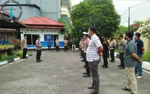 Kapolsek Pahandut Instruksikan Anggota Patuhi SOP dalam Bertugas