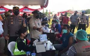 Kapolda Kalteng Tinjau Serbuan Batalyon Vaksinator di Sei Hanyo Kapuas