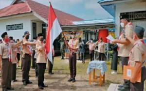 Ketua Kwarcab Pramuka Kapuas Lantik Ketua Mabiran dan Buka KMD di Basarang