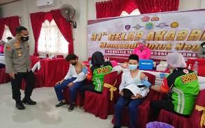 Polres Barito Timur Gelar Vaksinasi Bakti Sosial 31 Tahun Akabri 90