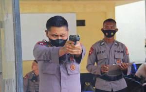 Puluhan Personel Brimob Polda Kalteng Ikuti Lomba Menembak